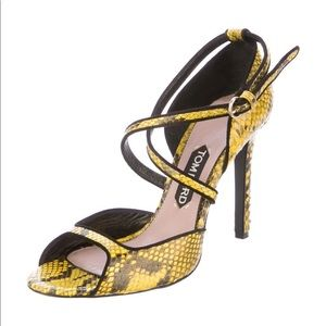 Authentic Tom Ford snakeskin heels